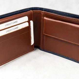 Plavo smeđi novčanik 104